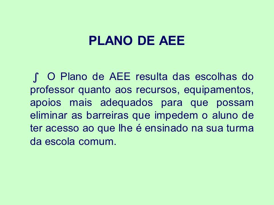 PLANO DE AEE