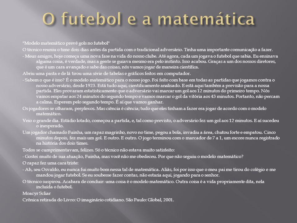 O futebol e a matemática