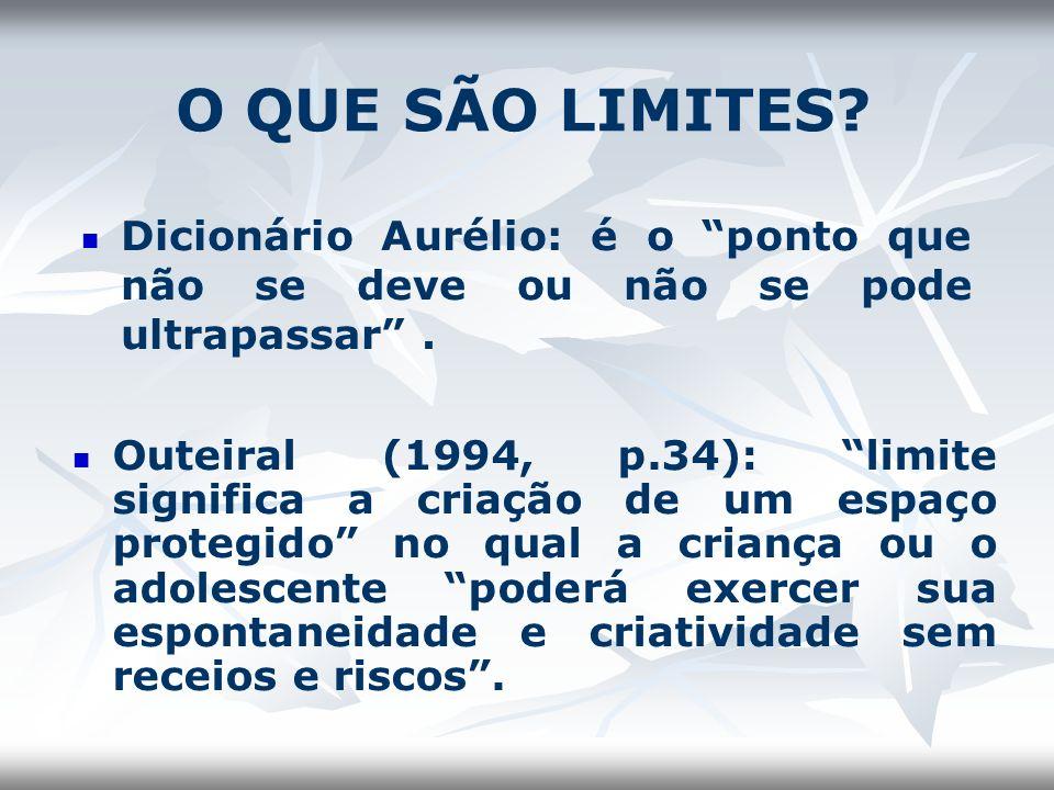 O QUE SÃO LIMITES Dicionário Aurélio: é o ponto que não se deve ou não se pode ultrapassar .