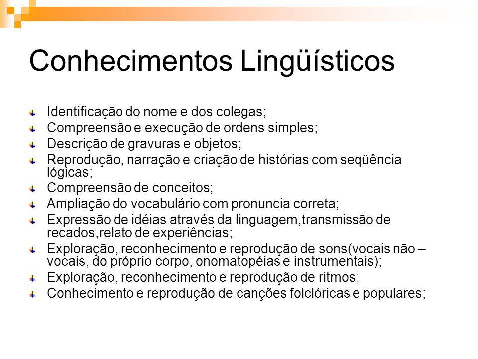 Conhecimentos Lingüísticos