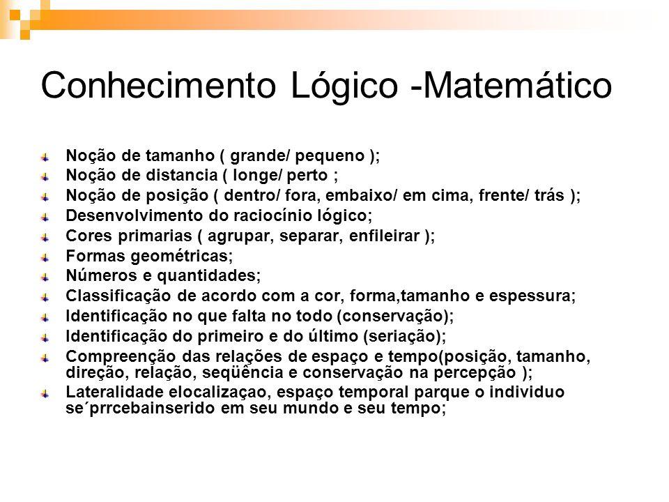 Conhecimento Lógico -Matemático