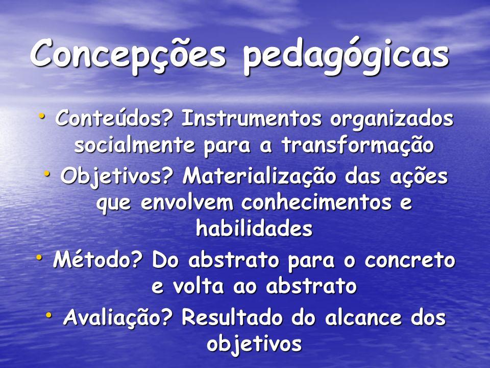 Concepções pedagógicas