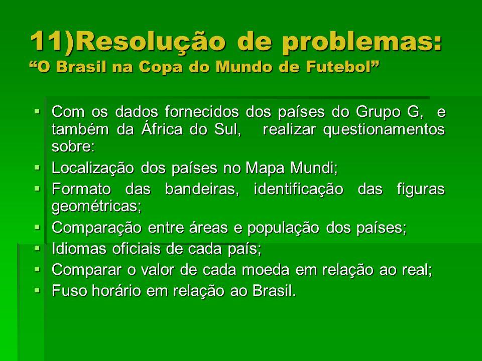 11)Resolução de problemas: O Brasil na Copa do Mundo de Futebol