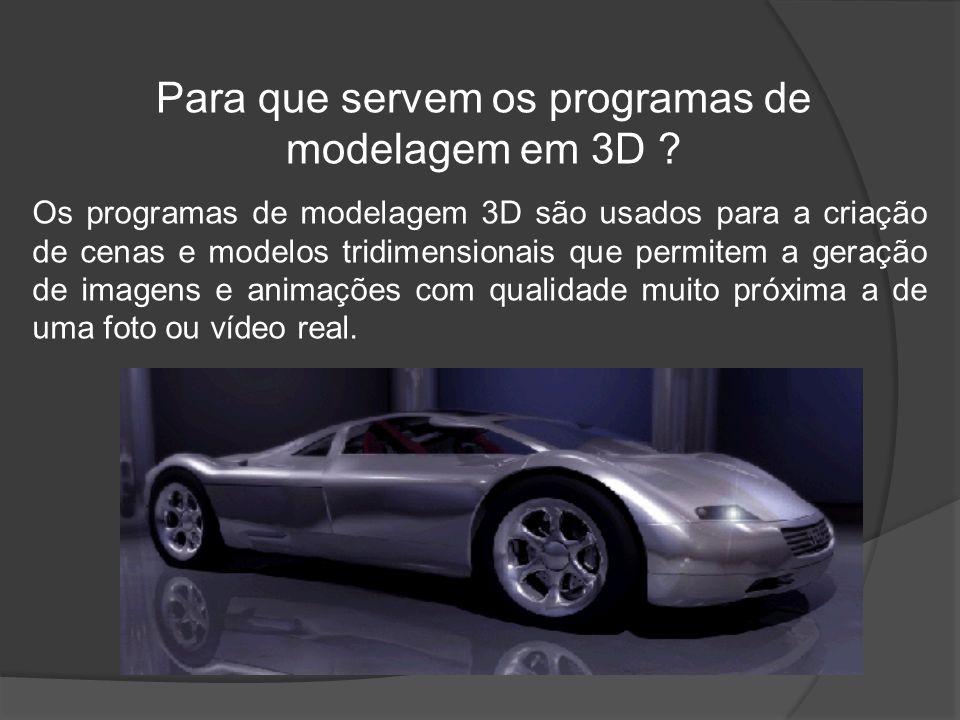 Para que servem os programas de modelagem em 3D