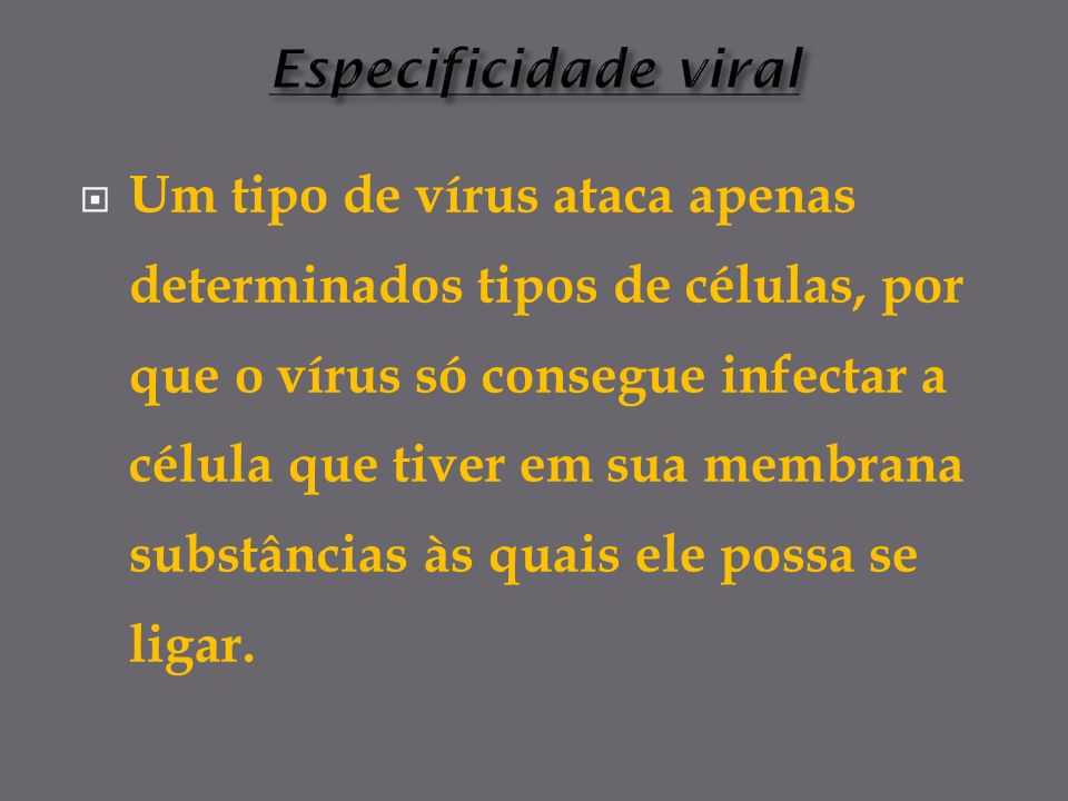 Especificidade viral
