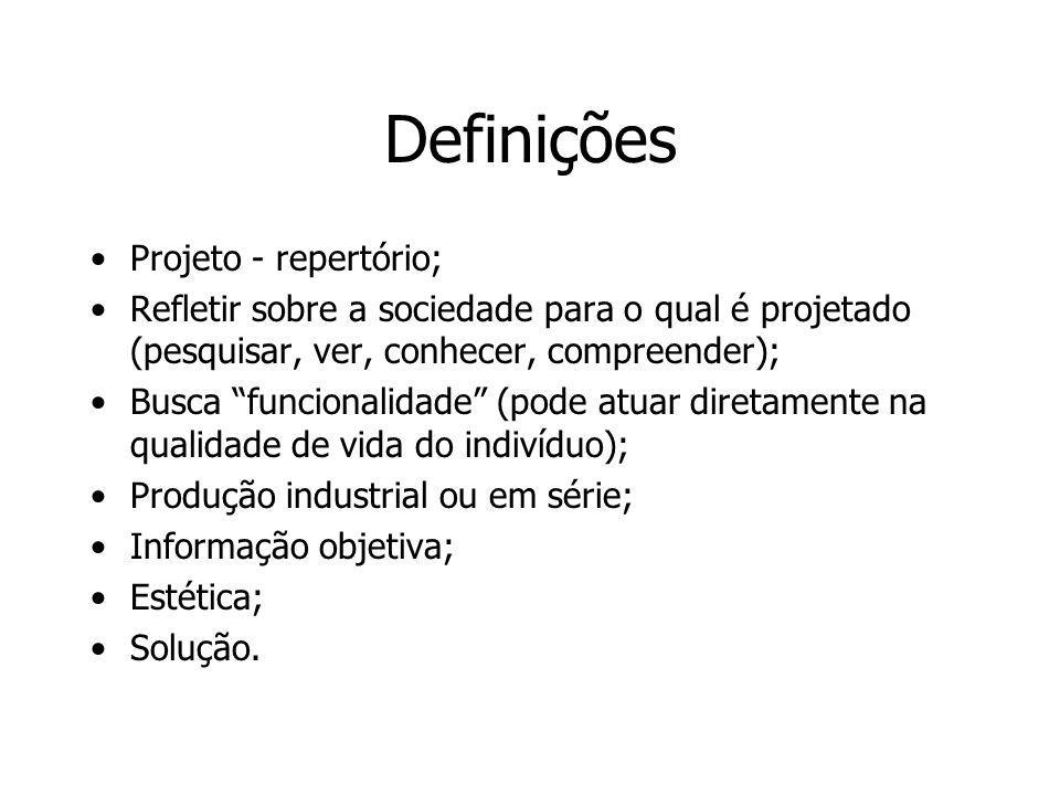 Definições Projeto - repertório;