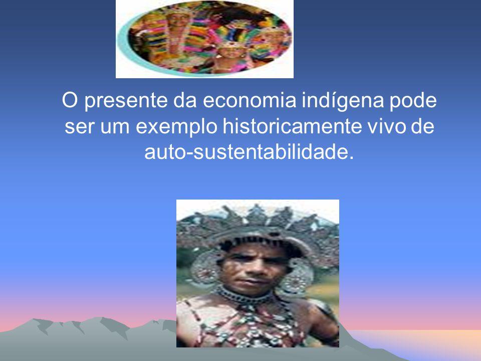 O presente da economia indígena pode ser um exemplo historicamente vivo de auto-sustentabilidade.