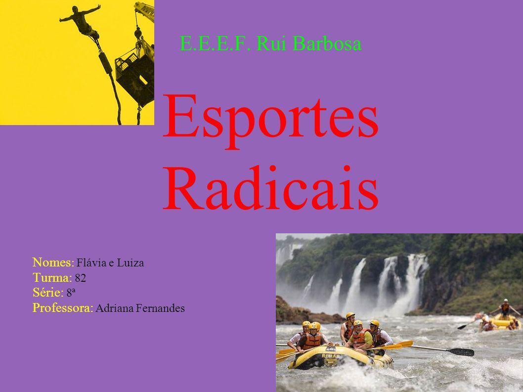 Esportes Radicais E.E.E.F. Rui Barbosa Nomes: Flávia e Luiza Turma: 82