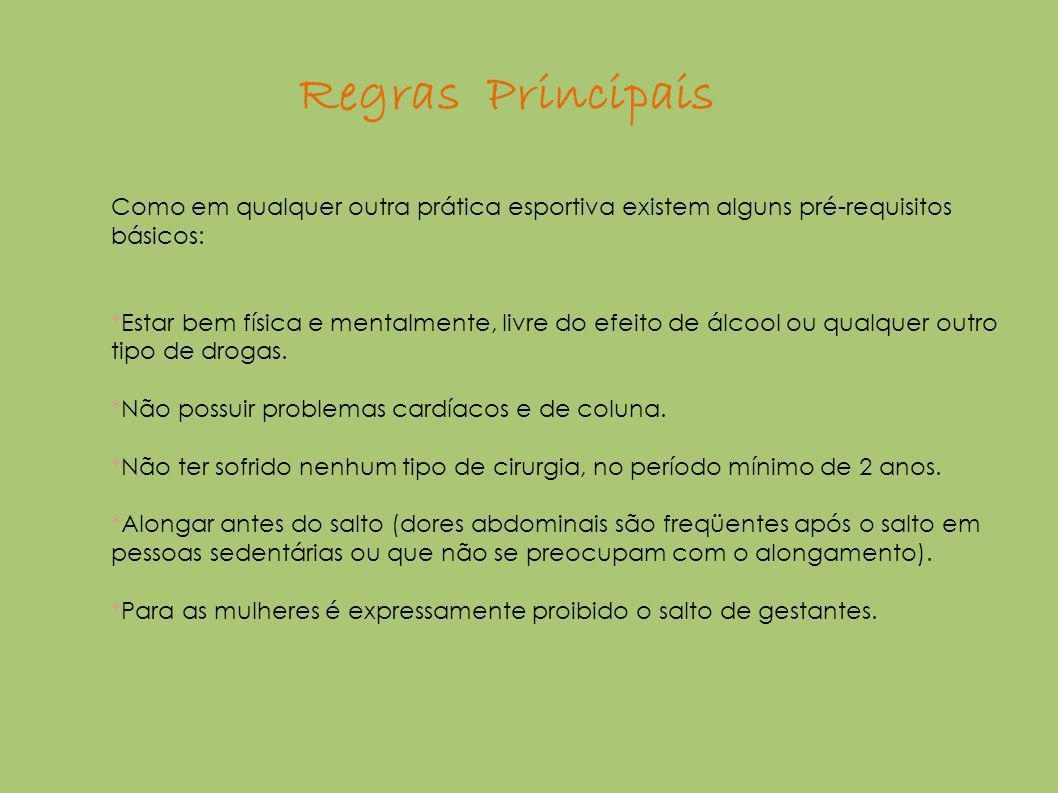 Regras Principais Como em qualquer outra prática esportiva existem alguns pré-requisitos básicos: