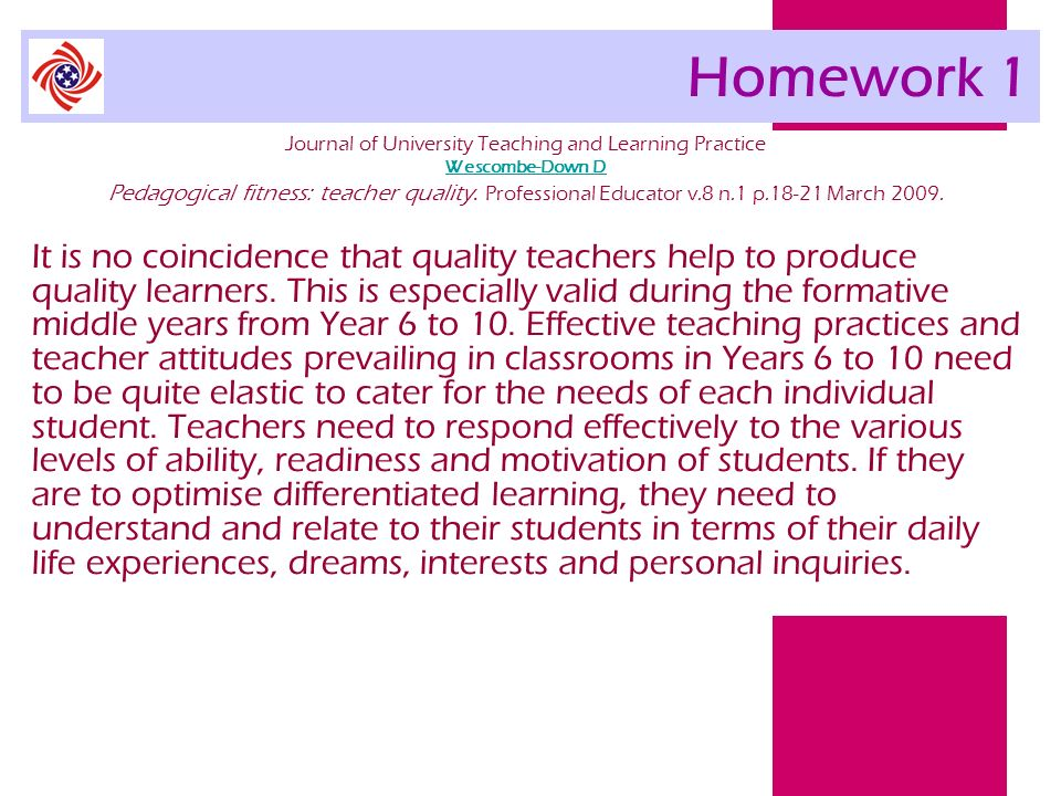 Journal of University Teaching and Learning Practice