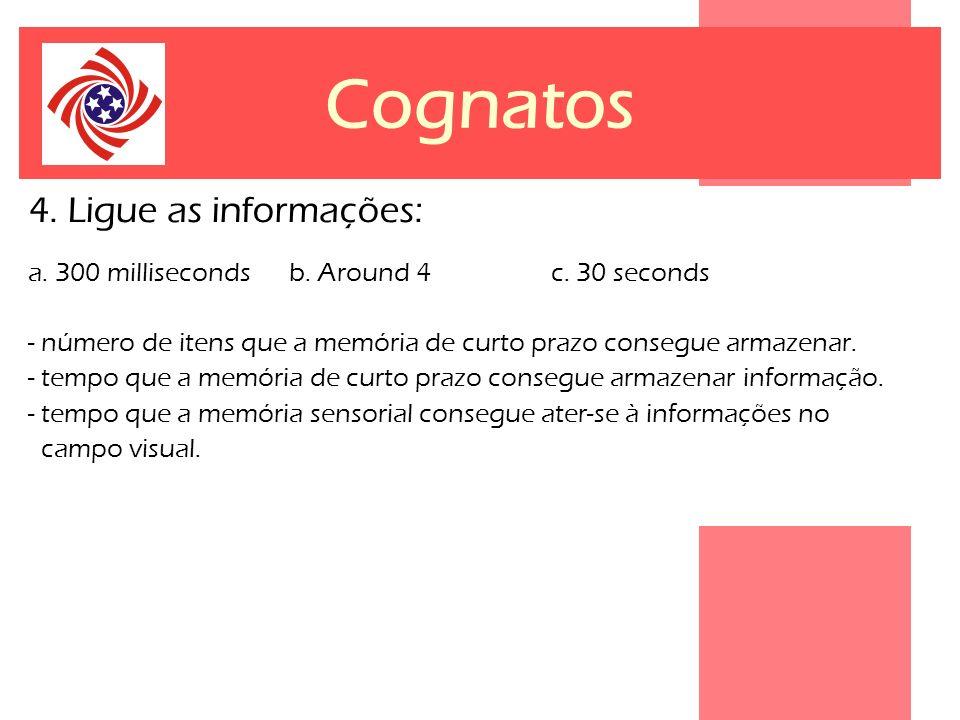 Cognatos 4. Ligue as informações: