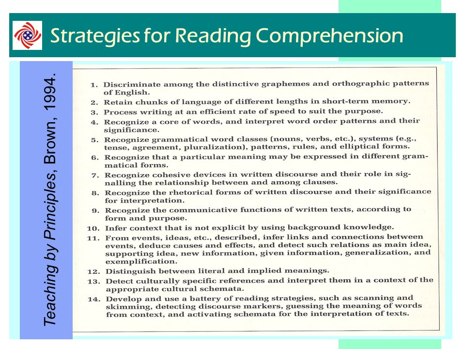 Strategies for Reading Comprehension