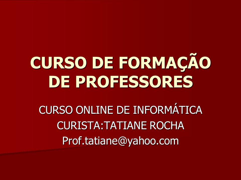 CURSO DE FORMAÇÃO DE PROFESSORES