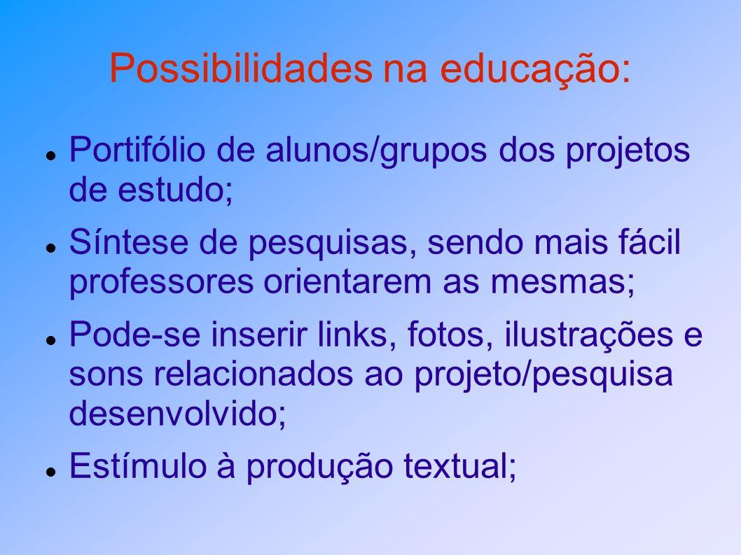 Possibilidades na educação:
