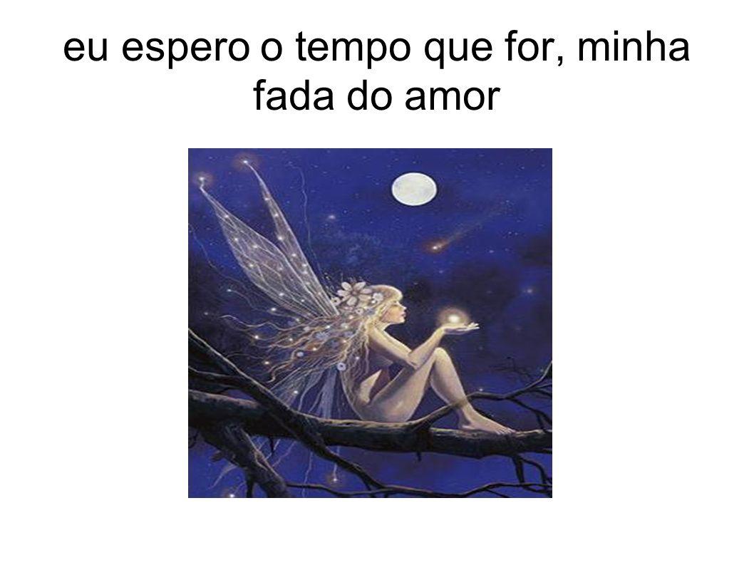 eu espero o tempo que for, minha fada do amor