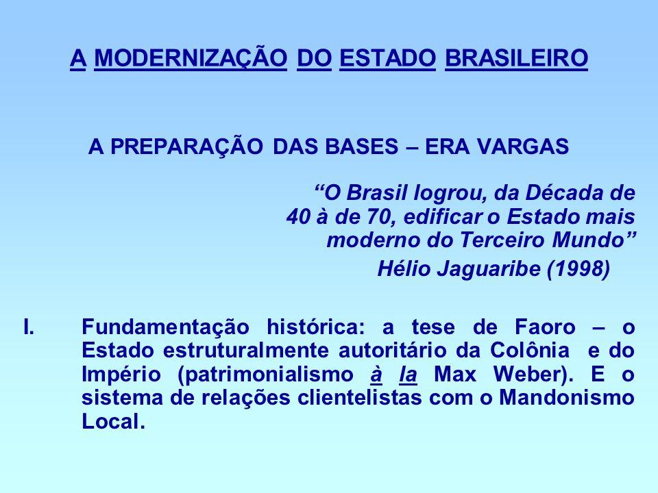 A MODERNIZAÇÃO DO ESTADO BRASILEIRO