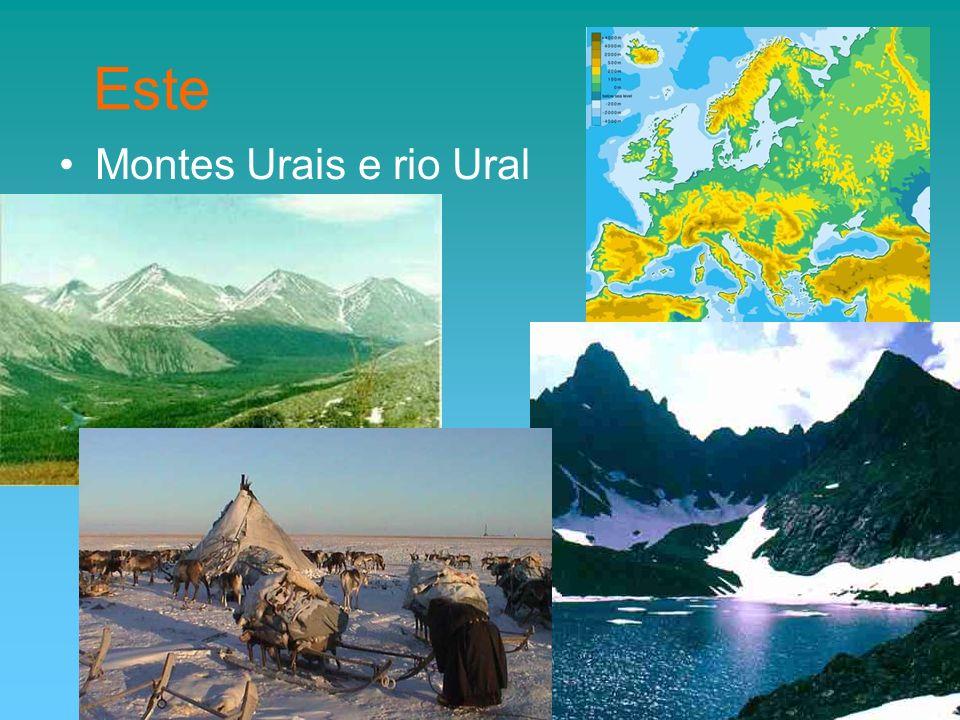 Este Montes Urais e rio Ural