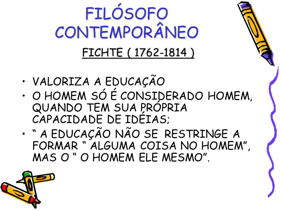 FILÓSOFO CONTEMPORÂNEO