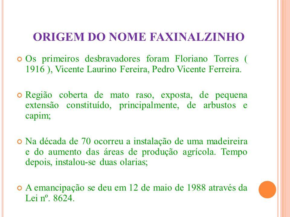 ORIGEM DO NOME FAXINALZINHO