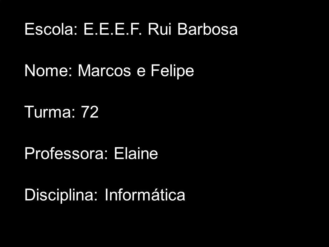 Escola: E.E.E.F. Rui Barbosa