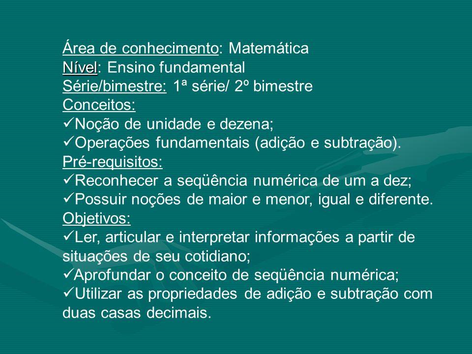 Área de conhecimento: Matemática