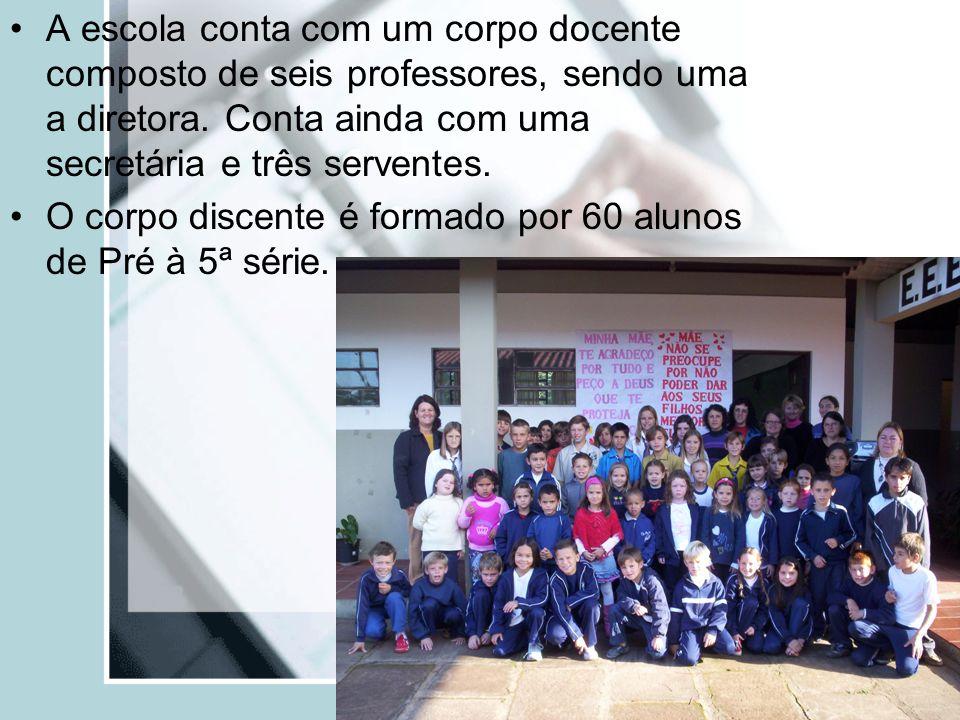 A escola conta com um corpo docente composto de seis professores, sendo uma a diretora. Conta ainda com uma secretária e três serventes.