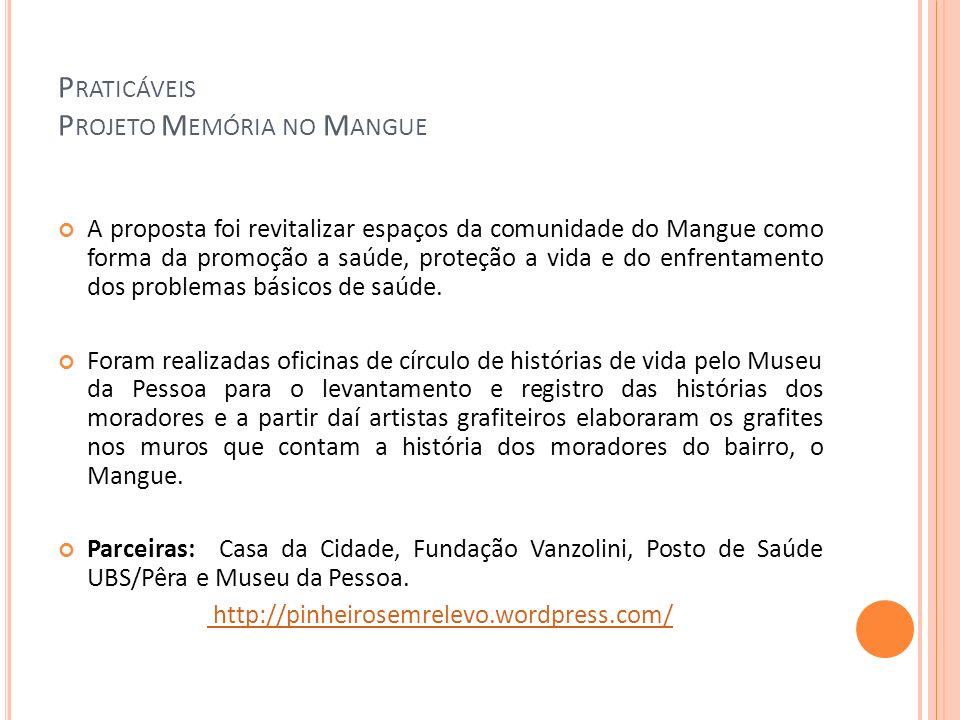 Praticáveis Projeto Memória no Mangue