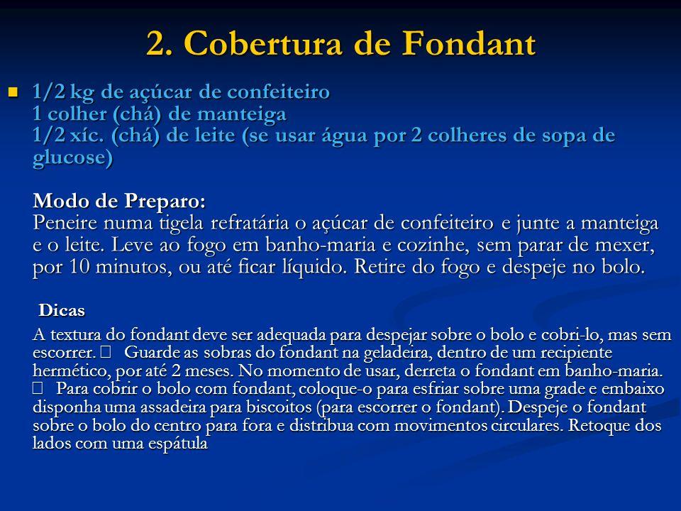 2. Cobertura de Fondant