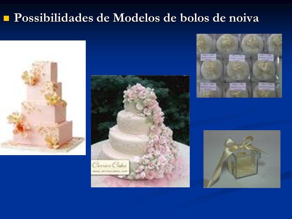 Possibilidades de Modelos de bolos de noiva