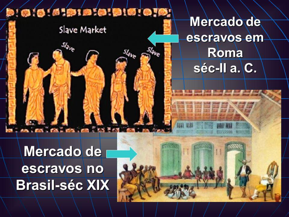 Mercado de escravos em Roma séc-II a. C.