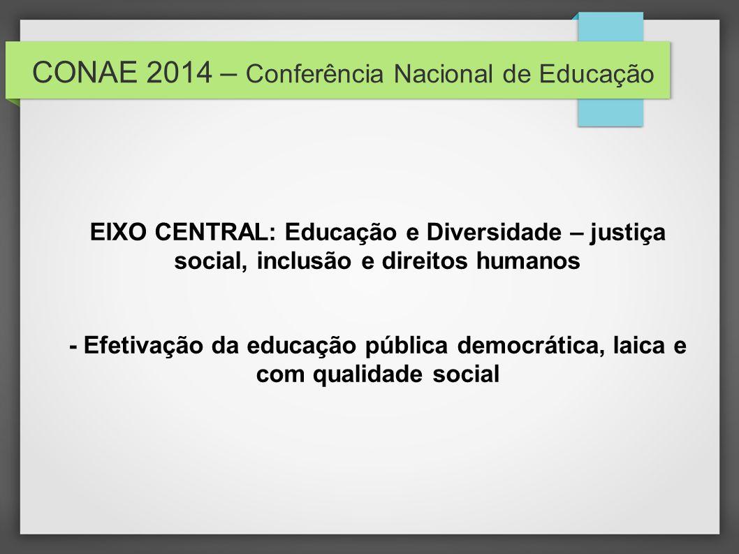 CONAE 2014 – Conferência Nacional de Educação