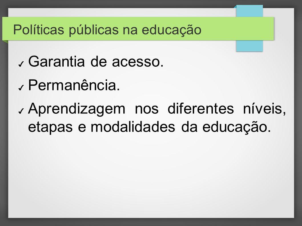 Políticas públicas na educação