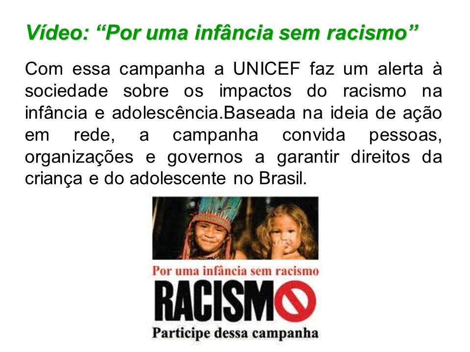 Vídeo: Por uma infância sem racismo