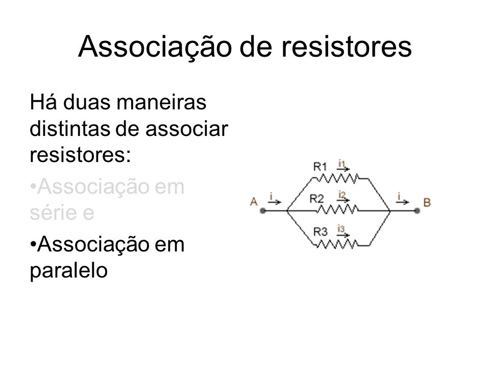 Associação de resistores