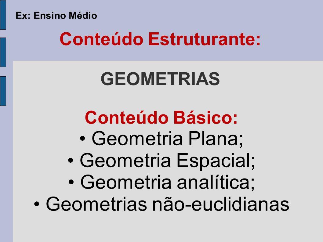 Conteúdo Estruturante: GEOMETRIAS