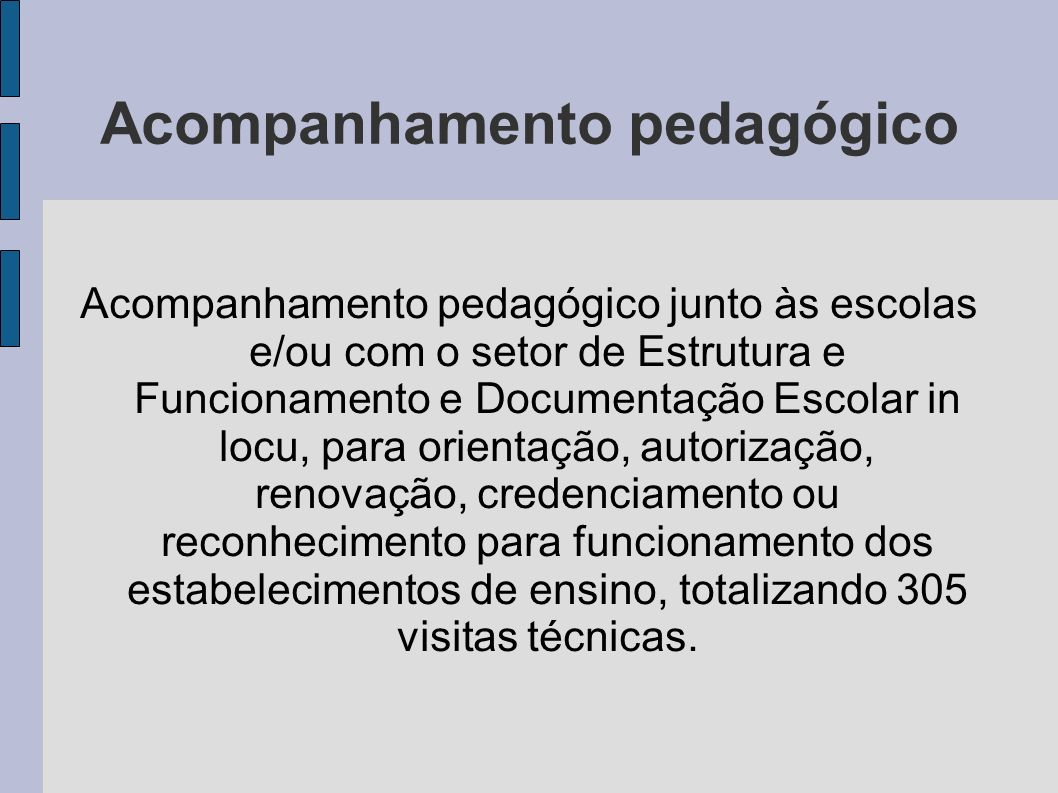 Acompanhamento pedagógico