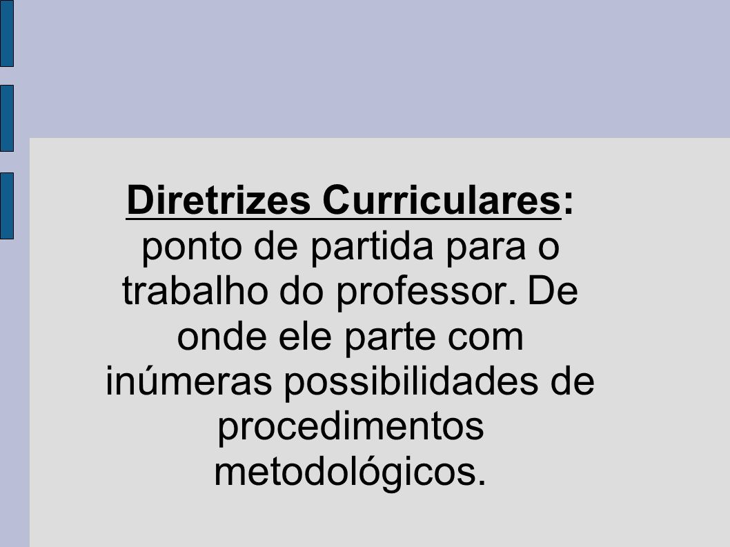 Diretrizes Curriculares: ponto de partida para o trabalho do professor
