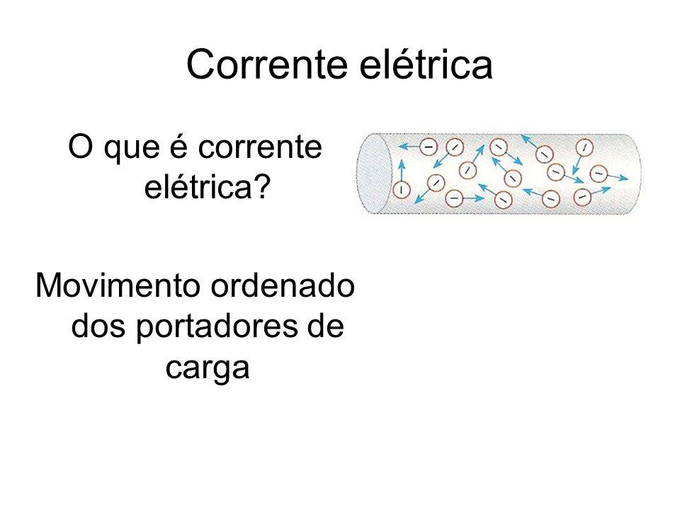 Corrente elétrica O que é corrente elétrica