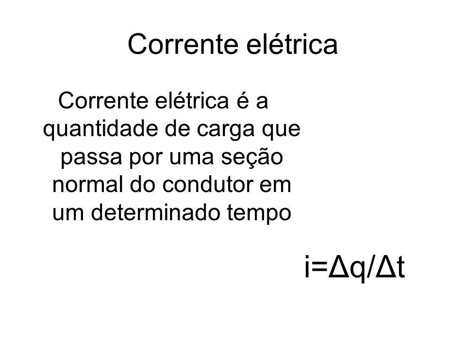 i=Δq/Δt Corrente elétrica