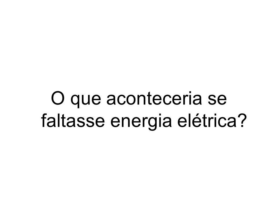 O que aconteceria se faltasse energia elétrica