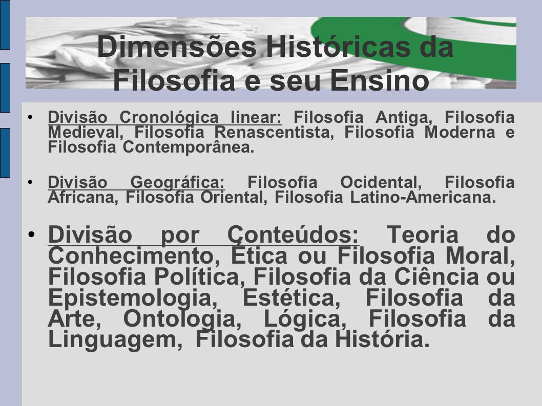 Dimensões Históricas da Filosofia e seu Ensino