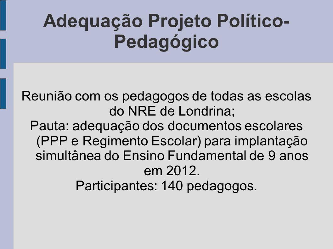 Adequação Projeto Político- Pedagógico