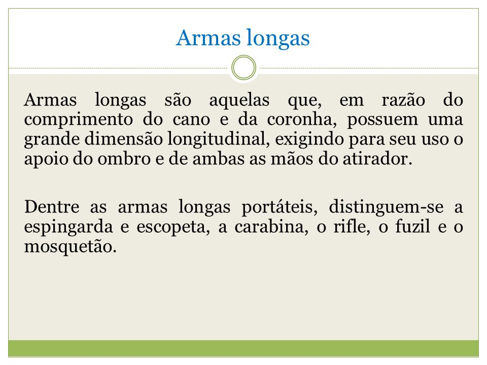 Armas longas