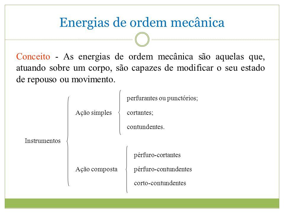 Energias de ordem mecânica