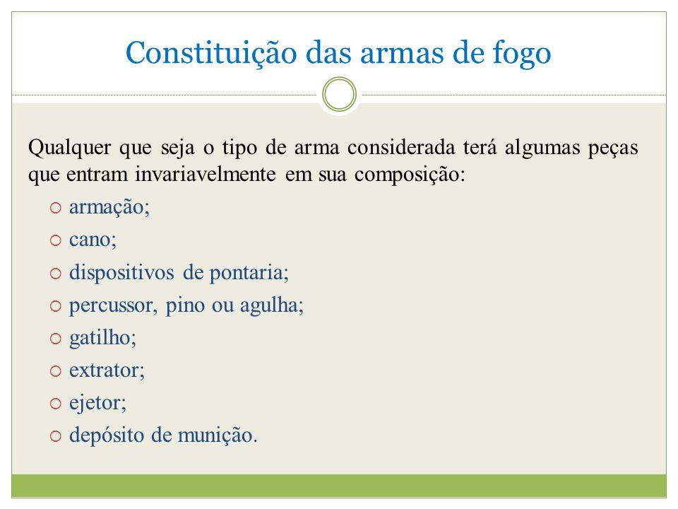 Constituição das armas de fogo