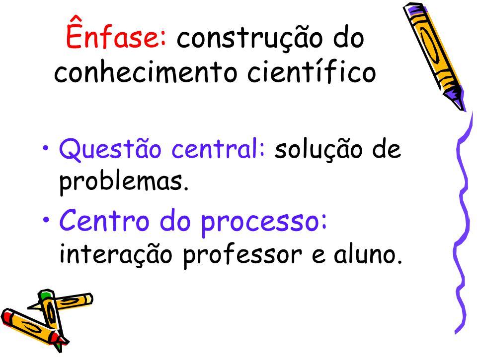 Ênfase: construção do conhecimento científico