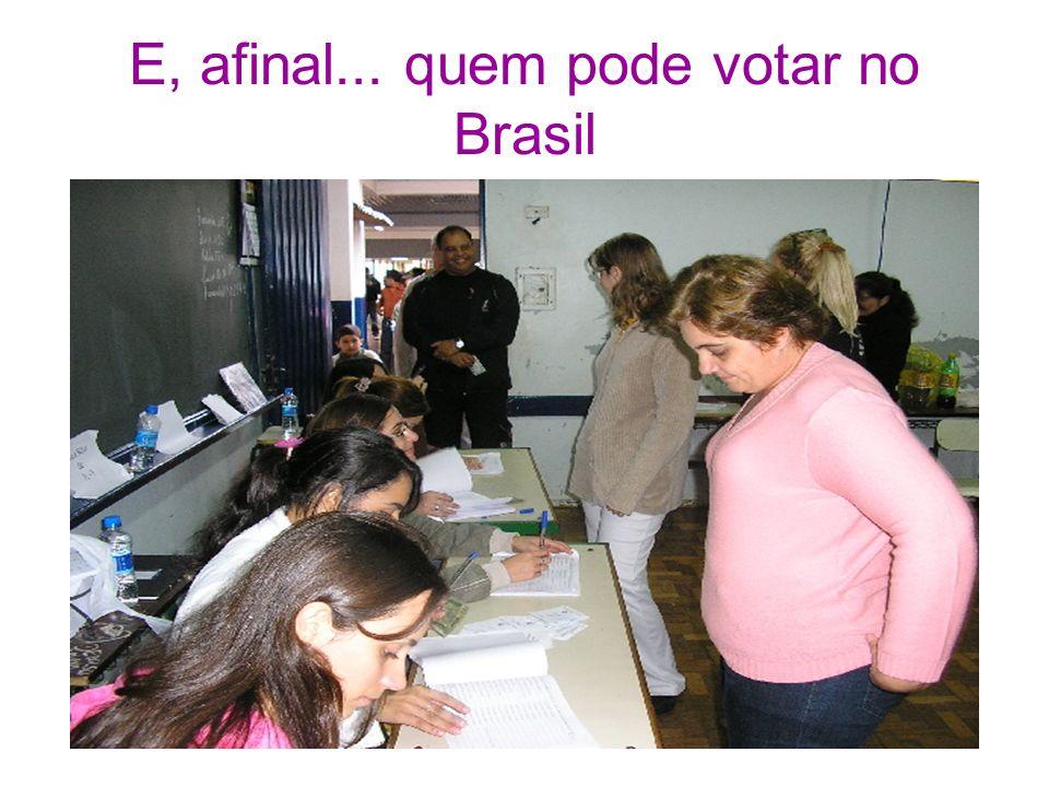 E, afinal... quem pode votar no Brasil