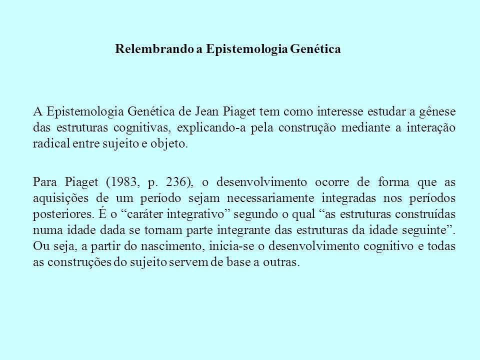 Relembrando a Epistemologia Genética