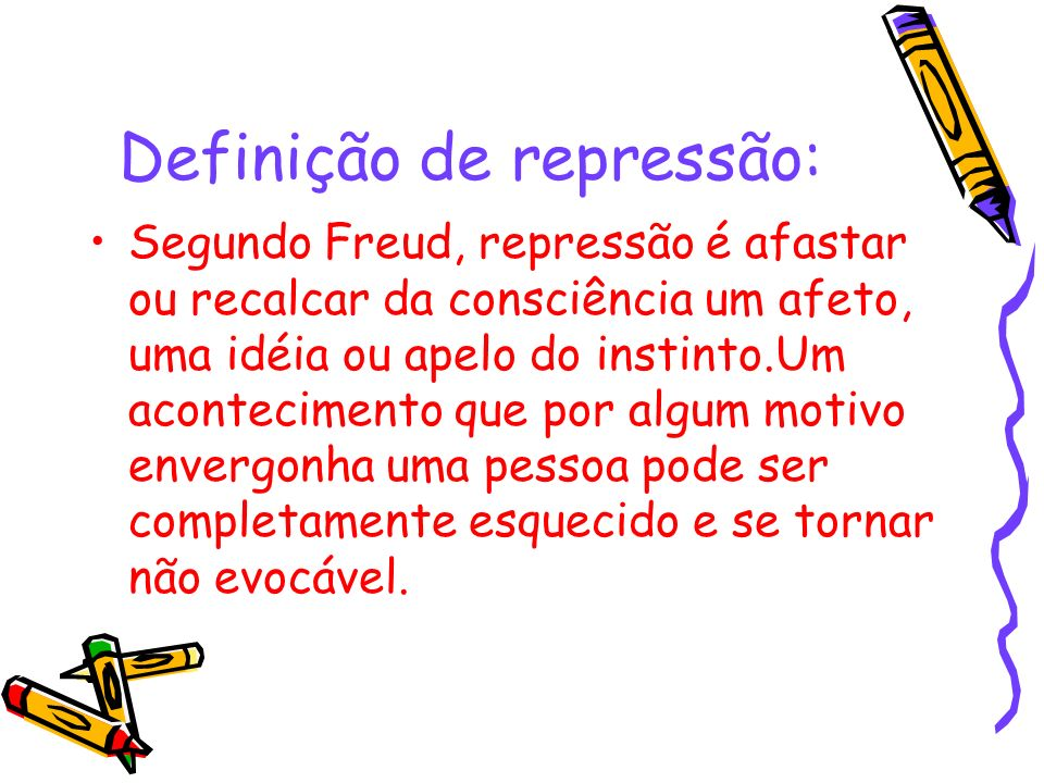 Definição de repressão: