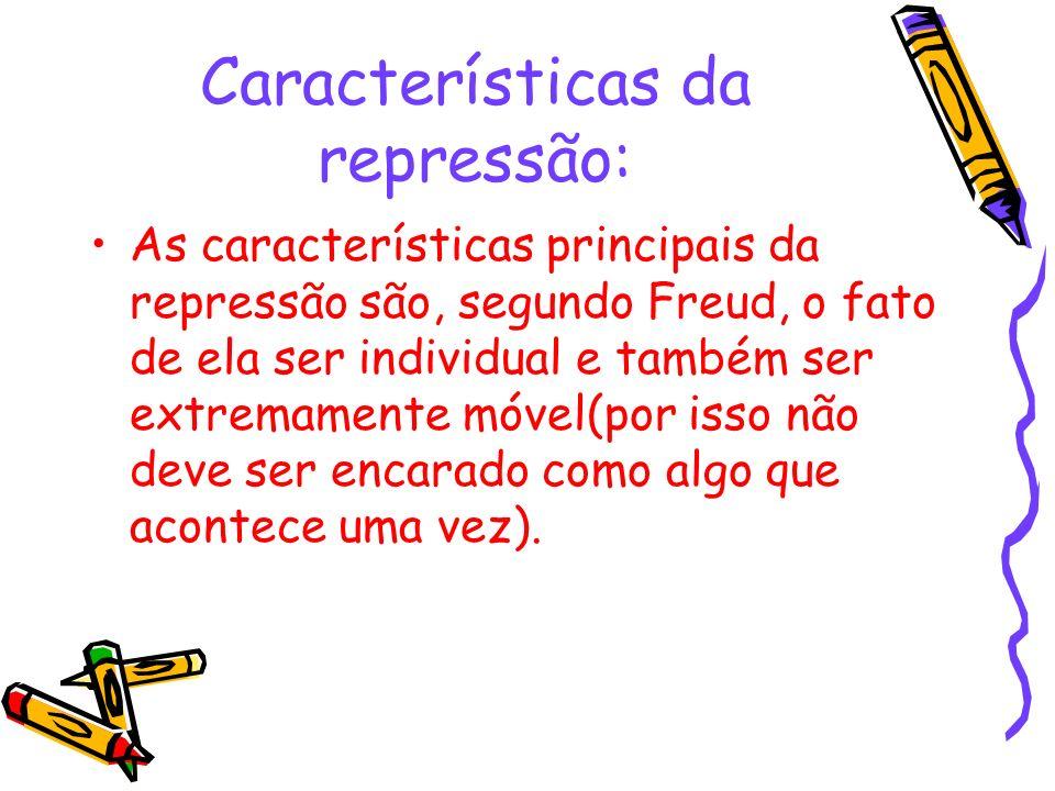 Características da repressão: